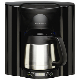 BREW EXPRESS Black 10-Cup Programmable Coffeemaker