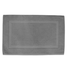 Classic 32-in x 20-in Opal Gray Cotton Bath Rug
