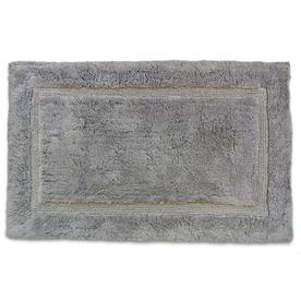 Luxury 34-in x 21-in Grey Cotton Bath Rug