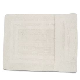 Resort 34-in x 21-in White/White Cotton Bath Rug