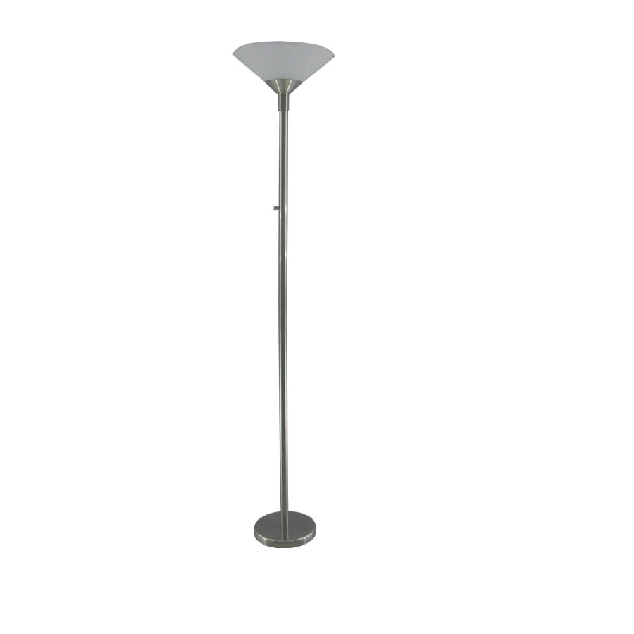 shop portfolio 71 in brushed nickel torchiere indoor floor lamp with. Black Bedroom Furniture Sets. Home Design Ideas