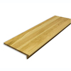 Stairtek RetroTread 11.5-in x 36-in Natural Prefinished Oak Wood Stair Tread