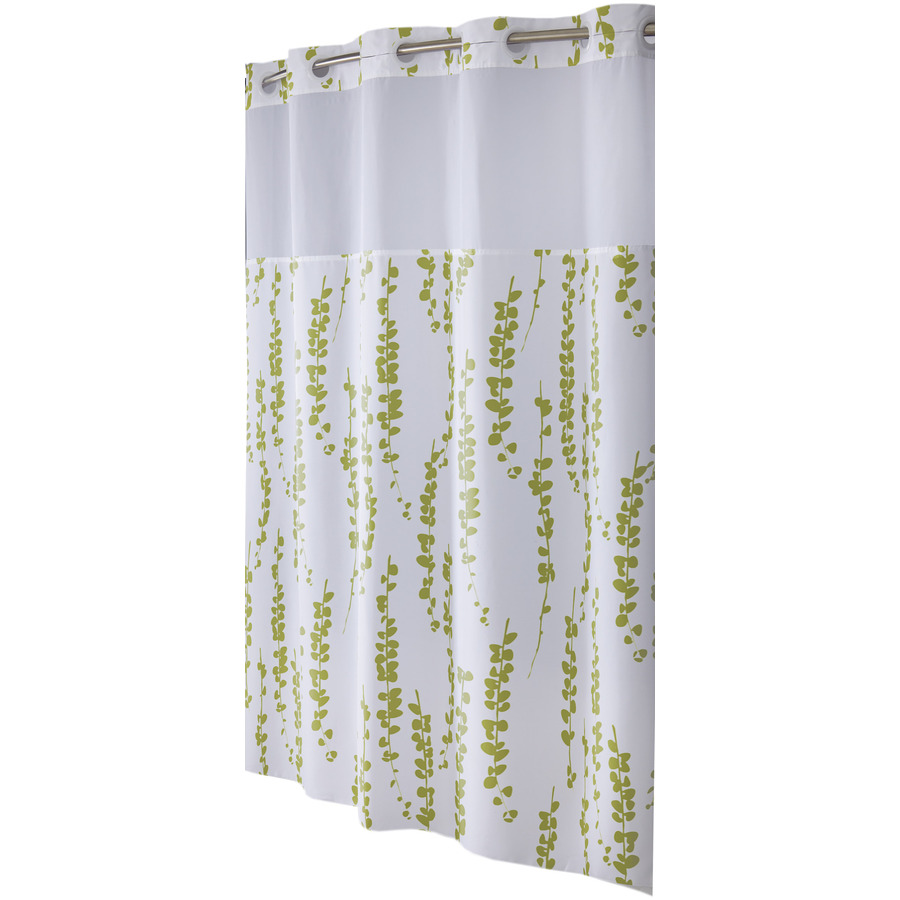 Shop Hookless Polyester Moss Floral Shower Curtain at Lowes.com