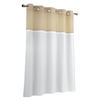 Hookless Polyester White Solid Shower Liner