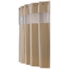 Hookless EVA/PEVA Brownstone Vision Solid Shower Curtain