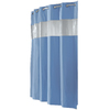 Hookless EVA/PEVA Blue Vision Solid Shower Curtain