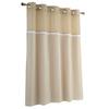 Hookless EVA/PEVA Frosty White Solid Shower Liner