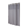 Hookless Polyester Grey Solid Shower Curtain