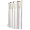 Hookless Polyester White Solid Shower Curtain