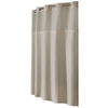 Hookless Polyester Solid Stone Solid Shower Curtain
