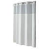 Hookless Polyester White Diamond Pique Solid Shower Curtain