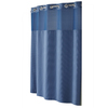 Hookless Polyester Moonlight Blue Diamond Pique Solid Shower Curtain