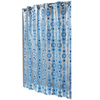 Hookless EVA/PEVA Blue Circle Drop Patterned Shower Curtain