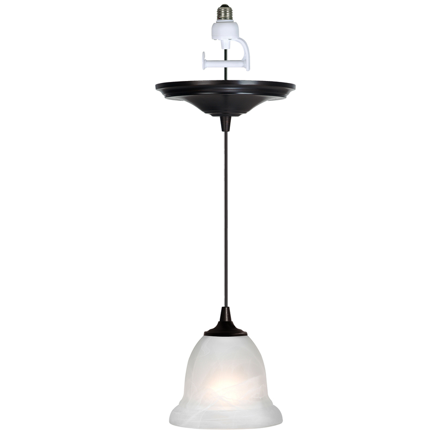 Shop Portfolio Antique Bronze Recessed To Pendant Light