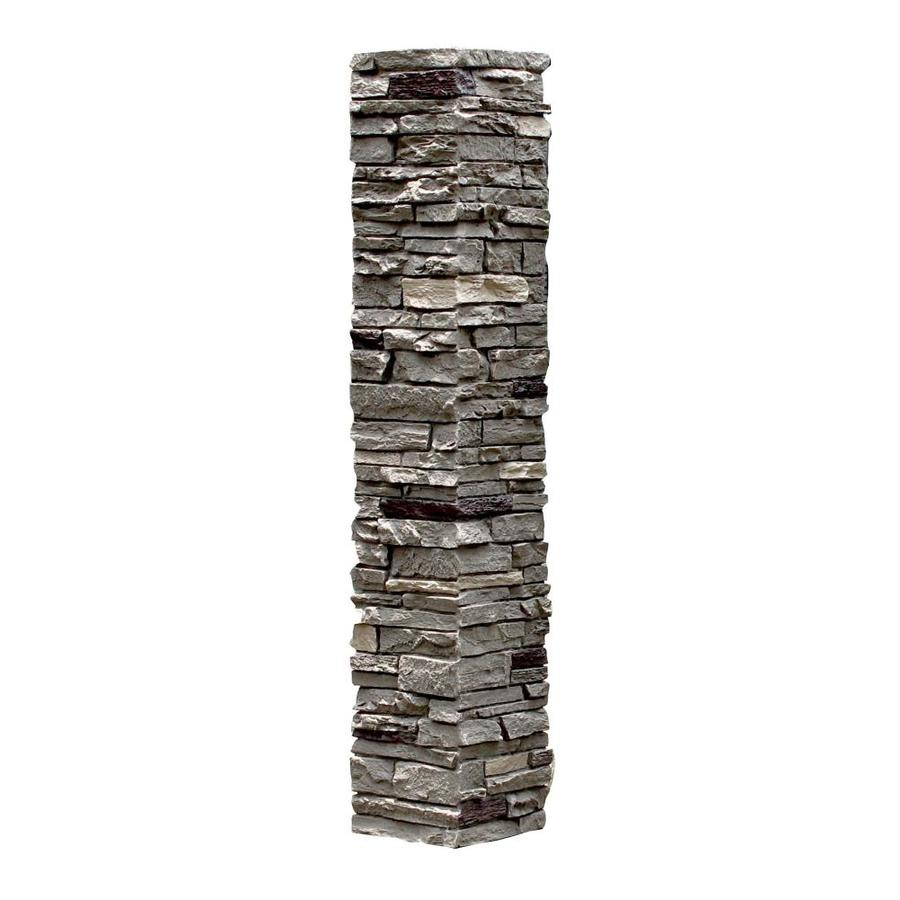 Stone Columns Wraps Kits : Shop nextstone in pewter slatestone column wrap