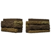 NextStone 4-Pack 7-1/4-in x 17-1/2-in Carolina Cocoa LedgeStone Flush Mount Outside Corner