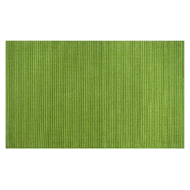 Style Selections Solid Ribbed Chenille Rectangular Green Solid Woven Chenille Accent Rug (Common: 2-ft x 4-ft; Actual: 27-in x 45-in)
