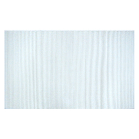 Style Selections Solid Ribbed Chenille Rectangular Cream Solid Woven Chenille Accent Rug (Common: 2-ft x 4-ft; Actual: 27-in x 45-in)