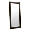 Baxton Studio Espresso Rectangle Framed Wall Mirror