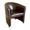 Baxton Studio Brown Club Chair