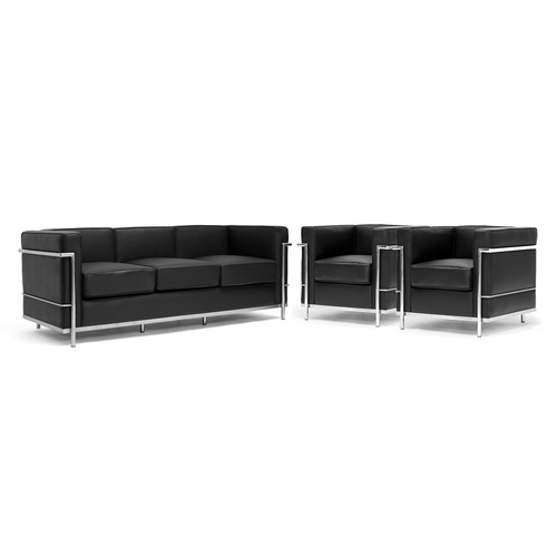 Black Leather Sofa Jcpenney: Black & Brown Baxton Studio Modern Sectional Sofa From Lowes Sofas Living Room Furniture