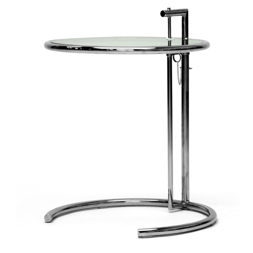 Black Stainless Steel Round End Coffee Table At Lowes Tables