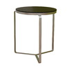 Baxton Studio Black Composite Round End Table