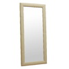 Baxton Studio 31-in x 71-in Cream Rectangular Framed Mirror