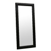 Baxton Studio Black Rectangle Framed Wall Mirror