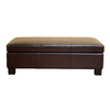 Baxton Studio Brown Rectangular Ottoman