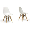Baxton Studio AZZO Plastic Side Chair - Set of 2