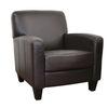 Baxton Studio Dark Brown Club Chair