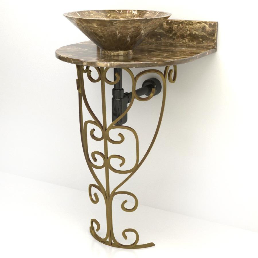 ... Vontz Monterrey Antique Bronze Complete Pedestal Sink at Lowes.com