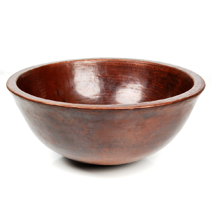 Vessel Sinks Lowes : Shop DVontz 15-in D Copper Vessel Sink at Lowes.com
