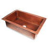 D'Vontz 25-in x 36-in Single-Basin Copper Undermount Kitchen Sink