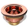 D'Vontz Kitchen Sink Accessories 3.5-in Shiny Copper Stainless Steel Kitchen Sink Strainer Basket