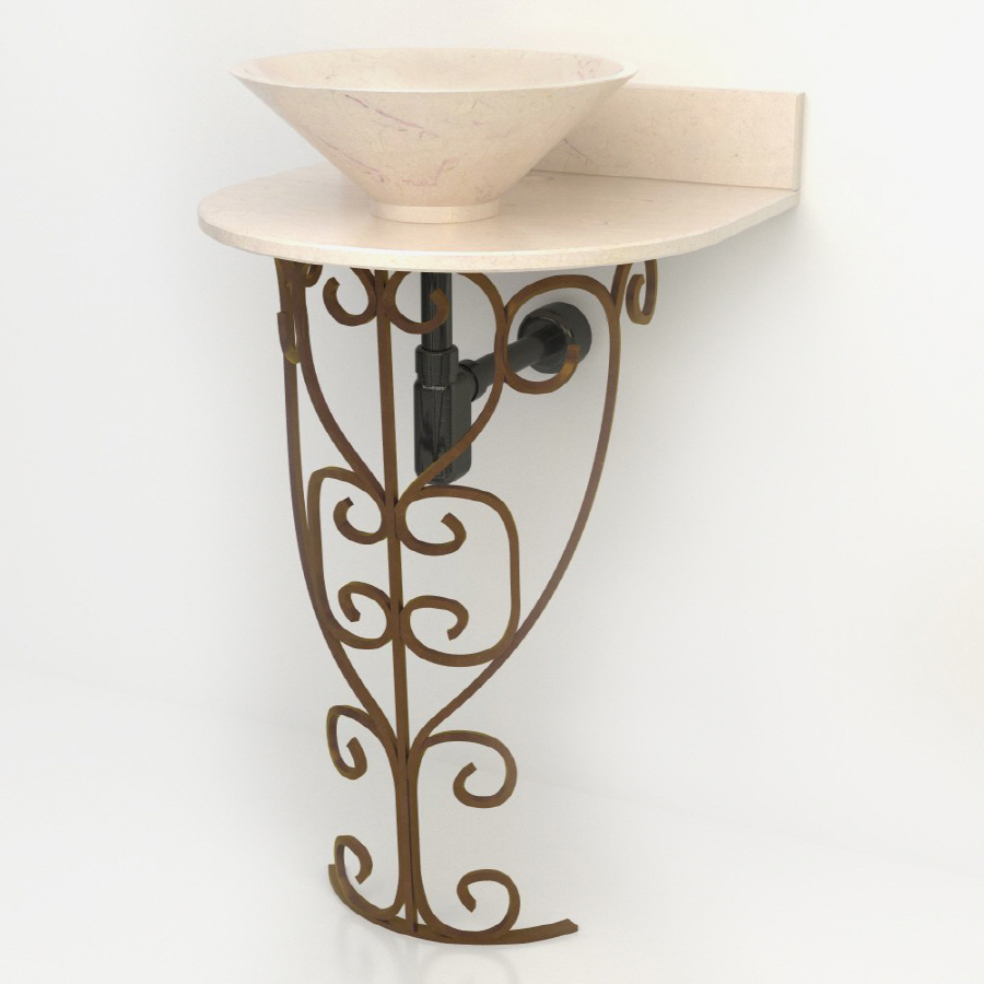 ... Vontz Monterrey Antique Bronze Complete Pedestal Sink at Lowes.com