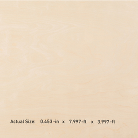 Top Choice Birch/Blondewood Plywood (Actual: 0.47-in x 4-ft x 8-ft)