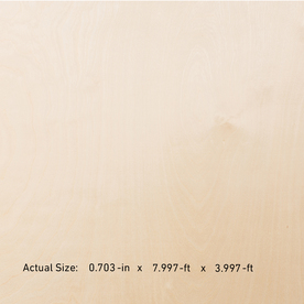 Top Choice Birch/Blondewood Plywood (Actual: 0.71-in x 4-ft x 8-ft)