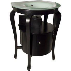 Bath Vanity Combo with Glass Sink Top from Lowes Vanities Bathroom