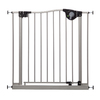 Dreambaby Empire Magnetic EZY-Check Auto-Close with Stay-Open Feature 32.5-in x 29.5-in Silver Metal Child Safety Gate