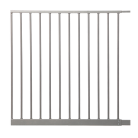 Dreambaby Empire Magnetic EZY-Check Auto-Close with Stay-Open Feature 27.5-in x 29.5-in Silver Metal Child Safety Gate