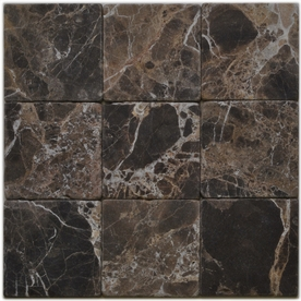 Big Pacific 4-in x 4-in Emperador Dark Marble Floor Tile