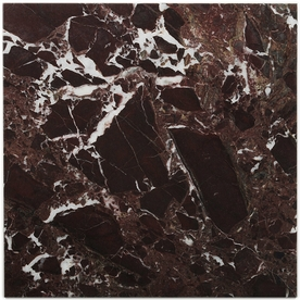 Big Pacific 12-in x 12-in Rosso Pompeii Marble Floor Tile