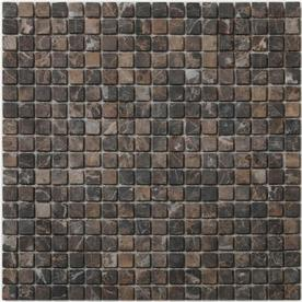 Big Pacific 12-in x 12-in Emperador Dark Marble Floor Tile
