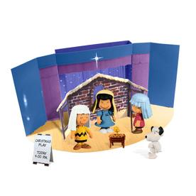 Peanuts Plastic Peanuts Mini Figure Set Freestanding Christmas Decoration