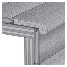 tecsun 2-1/4-in x 72-in Gunstock Stair Nose Moulding