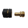 Blue Hawk Brass Quick Disconnect Garden Hose Adapter Set
