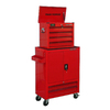 Task Force 6-Drawer 33.38-in 100% Steel Tool Chest with Wheels Wheels Red