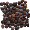 Marble Systems 10-Pack 12-in x 12-in Red Pebbles Natural Stone Wall Tile